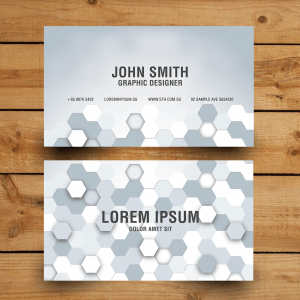 grey-hexagonal-namecard-design