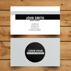 monochrome-namecard-design