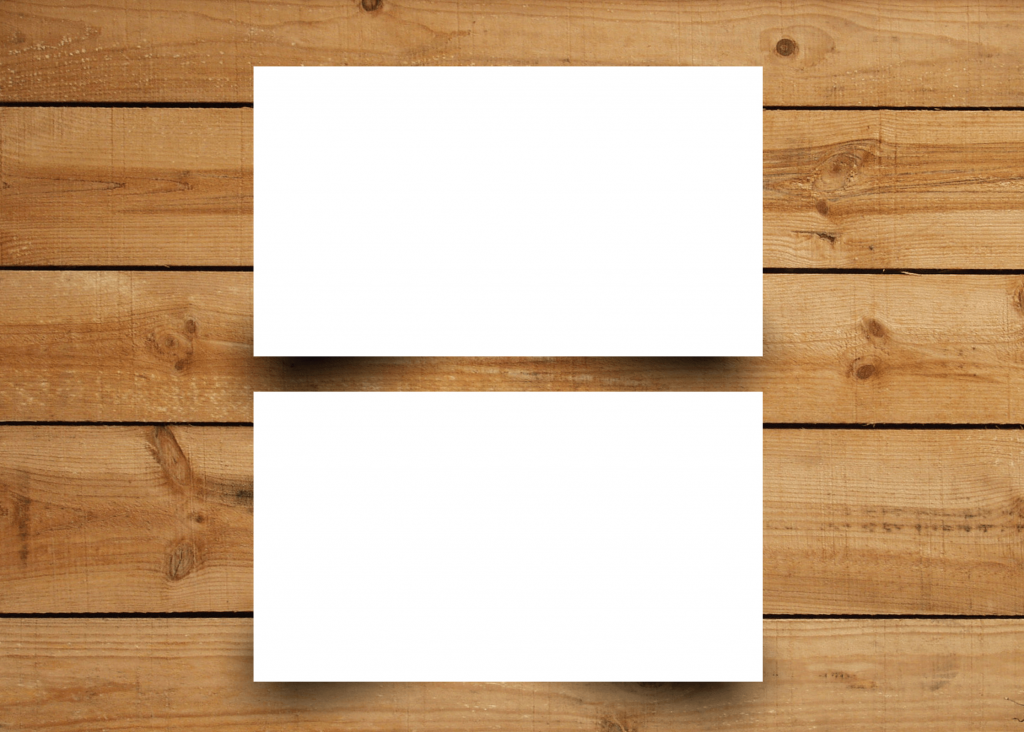 Namecard Plain White
